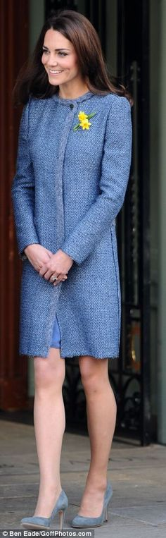 Forget lady in red, the Duchess of Cambridge is definitely a lady in blue. #blue #royals #fashion