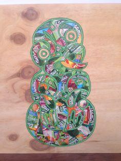Kiwiana art - by Kelly Ryan School Murals, Art School, Maori Designs, Tattoo Designs, Maori Symbols, Art Types, New Zealand Art, Maori Tattoos, Maori Art
