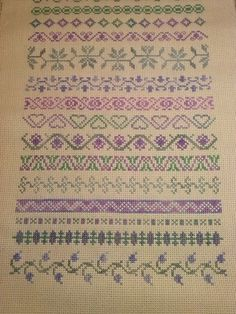 This Pin was discovered by şen Cross Stitch Bookmarks, Mini Cross Stitch, Cross Stitch Borders, Simple Cross Stitch, Cross Stitch Flowers, Cross Stitch Designs, Cross Stitching, Cross Stitch Patterns, Blackwork Embroidery