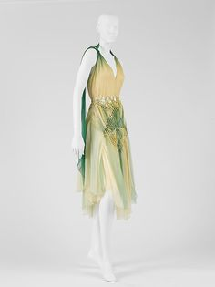 Evening dress Design House: House of Dior  (French, founded 1947) Designer: John Galliano (British, born Gibraltar, 1960) Couture Line: House of Dior (French, founded 1947) Date: fall/winter 2002–3 Culture: French Medium: silk Dimensions: Length at CF: 41 in. (104.1 cm) Credit Line: Gift of Mrs. Randolph Hearst, 2004 1950s, Victorian, Glamour, Dresses, Fashion, Vestidos, Moda, Gowns, Fasion