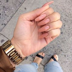 Nude coffin nail