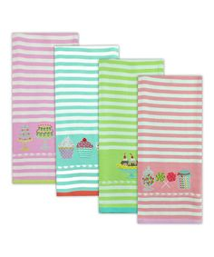 Another great find on #zulily! Sweet Shoppe Embroidered Dish Towel Set #zulilyfinds