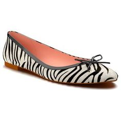 Zebra Stripe Calf Hair Ballet Flat (Women)