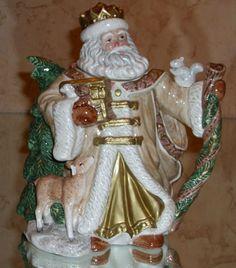 "Fitz and Floyd Omnibus Vintage ""St Nicholas"" Santa Teapot 1995"