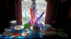 Sweets table for the Monkey's 9th bday