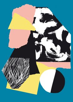 Artist Postcard Series No_ 3 Poketo X Atelier bingo geometric pattern art Art And Illustration, Illustration Inspiration, Illustrations, Graphic Design Inspiration, Poster Design, Art Design, Motif Design, Art Du Collage, Digital Collage