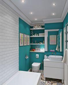 Скандинавский дизайн интерьера маленькой квартиры-студии 24 кв. м.-3