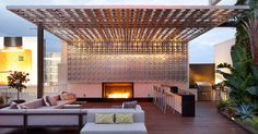 W Hollywood Roof Deck, Hollywood, CA by Rios Clementi Hale Studios , via Behance