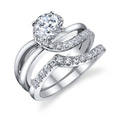 18k white gold and diamond wedding set. Call or email for information and availability ddjewelry@gmail.com (425)827-7722