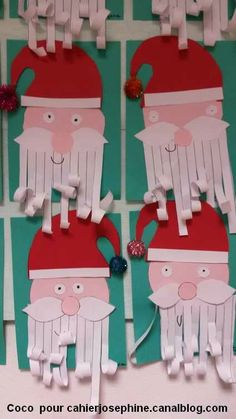 pere noel Plus Preschool Christmas, Noel Christmas, Christmas Activities, Christmas Crafts For Kids, Christmas Projects, Winter Christmas, Handmade Christmas, Holiday Crafts, Christmas Decorations