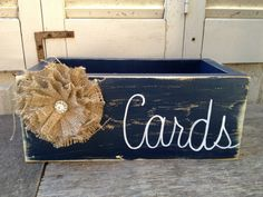 Distressed Navy Blue and White Wedding Cards by SassySouthernCharm