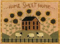 Primitive Cross Stitch Pattern  Sunflower by FiddlestixDesign, $10.00