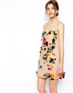 ASOS – SALON – Verziertes Kleid