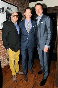 Willie Garson (Mosie) Matt Bomer (Neal) Tim DeKay (Peter) from 'White Collar'. Love that show.