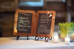 Oh Darling! Photography always seems to bring us the most, well, darling weddings. Charming and packed to the brim with personal details, this pretty little number can easily be filed aways as one o. Wedding Signs, Diy Wedding, Wedding Stuff, Wedding Ideas, Dream Wedding, Chalkboard Bar, Event Planning, Wedding Planning, Sweet Tea Vodka