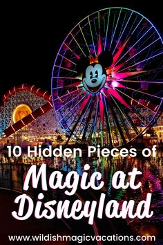 On your next family vacation to Disneyland in Anaheim, CA, be sure to look out for these 10 hidden pieces of magic. They can be found at both Disneyland Park and California Adventure. Read the blog to know where to find them and be sure to add them to your Disneyland touring plan. Disneyland Good Neighbor Hotels, Disneyland Resort Hotel, Disneyland Vacation, Disney Vacation Planning, Disneyland California, Disney World Planning, Disney Vacations, Magic Vacations, Disneyland Dining