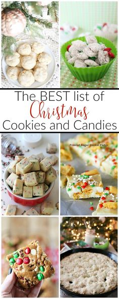 Need some ideas on what to bake this holiday season? Here's a collection of the BEST Christmas cookies and candies to make this year!