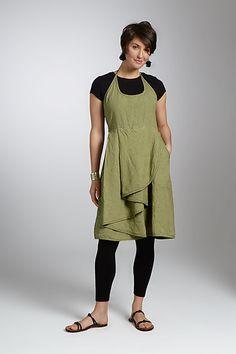 Linen Apron Dress: Cynthia Ashby: Linen Dress - Artful Home
