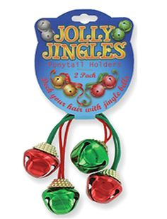 Jolly Jingles Christmas Jingle Bell Pony Tail Holders-Pack of 2 * Click on the image for additional details.