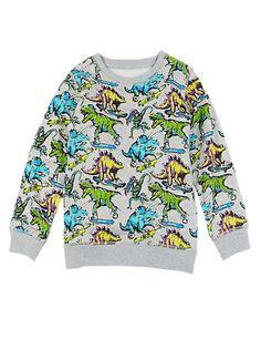 Pure Cotton Dinosaur Print Sweatshirt (1-7 Years) | M&S