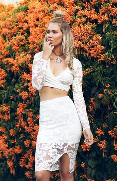 Captivating Two Piece Set White Two Piece Sets, Two Piece Skirt Set, Hello Spring, Spring Style, Lace Skirt, Spring Fashion, Boutique, Skirts, How To Wear
