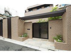 House Main Gates Design, House Fence Design, Front Gate Design, Door Gate Design, Entrance Design, Home Entrance Decor, House Entrance, Modern Architecture House, Architecture Design