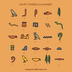 Egyptian Alphabet, Egyptian Flag, Egyptian Symbols, Ancient Egypt Hieroglyphics, Anubis, Greek Mythology Gods, Egypt Tattoo, Arte Tribal, Egypt Art