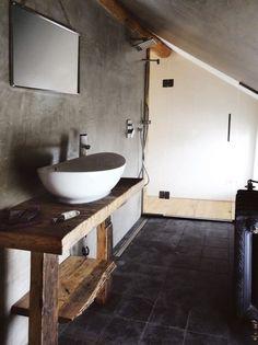 Badkamermeubel steigerhout met steigerbuis | Steigerbuis ...
