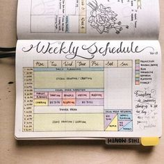 @penpapersoul Bullet Journal: A page of Weekday Studio Timetable as my basic guideline in planning my day.: #bulletjournaljunkies #bulletjournal