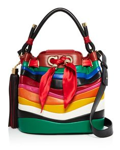 Salvatore Ferragamo x Sara Battaglia Medium Rainbow Bucket Bag