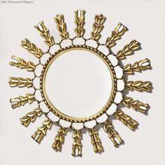 Glowing Sunburst Mirror