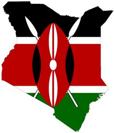 kenyan flag embedded in the map of Kenya!