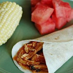 Slow Cooker Cilantro Lime Chicken   Tuck it into a warm tortilla, roll it up in a burrito, or stack it on a soft roll. All paths lead to dinnertime happiness.