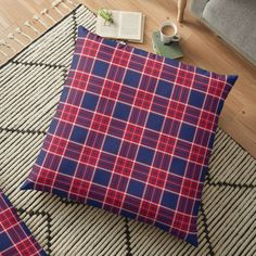 """United Kingdom Tartan"" Floor Pillow by 89BLACK   Redbubble"