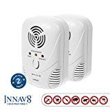 #4: #1 RATED ECO PEST Ultrasonic Pest Repellent By INNAV8 2PACK Best Indoor Plug In Pest Control SOLUTION Natural Repellent Mice Ants Roaches Mosquitoes Silver Fish [2 Band Tech.] Night Light