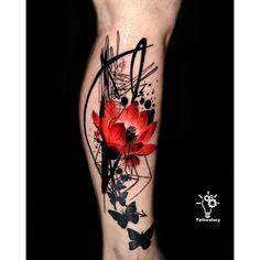 Half Sleeve Tattoo for Women Trash Polka Tattoo Large Lotus Neue Tattoos, Bild Tattoos, Body Art Tattoos, Cool Tattoos, Awesome Tattoo, Makeup Tattoos, Tatoos, Aquarell Lotus Tattoo, Watercolor Lotus Tattoo