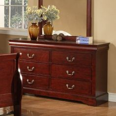 Alpine Furniture Dresser in Cherry