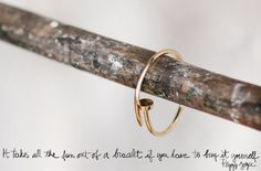 I love the simplicity and the idea that something you use everyday can become an beautiful accessory.
