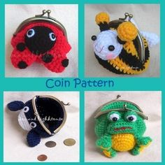 crochet pattern - coin purse - change purse - you can choose