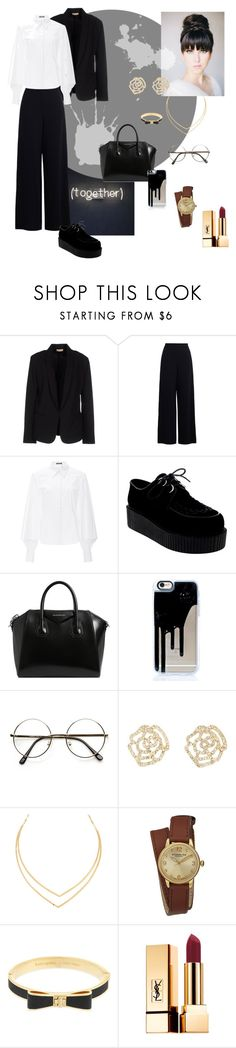 """""""Школьный лук"""" by grponi ❤ liked on Polyvore featuring Maesta, Zimmermann, Zac Posen, Givenchy, Charlotte Russe, Lana, Stührling, Kate Spade and Yves Saint Laurent"""