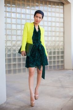 Yellow and Green find more women fashion ideas on http://www.misspool.com find more women fashion ideas on www.misspool.com