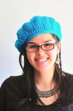 Cable Crochet Beret - free pattern by Kiku Corner