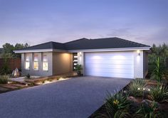GJ Gardner Home Designs: Saros 209 Facade Option. Visit www.localbuilders.com.au/builders_victoria.htm to find your ideal home design in Victoria