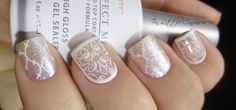 Weekly Mani: Elegant White Framed Nail Design | Ten Little Canvases