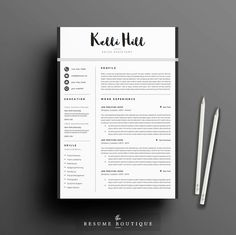 Resume Template 4page | CV Template + Cover Letter + References for MS Word…