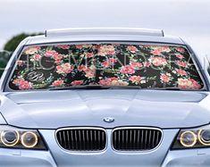 Custom Car Sun Shade Classy Black Floral Monogrammed Sunshades Personalized  Windshield Sun Shades For Car Floral 3c9b80dfe60d