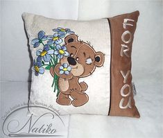 For you pillow, kids room pillow, cushion, Embroidered pillow, Decorative pillow, modern kids pillow, gift, Baby pillow, nursery pillow