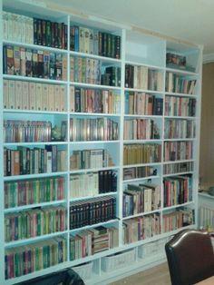 Boekenkast door mijn Dave gebouwd.