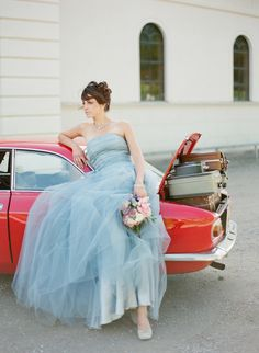 Blue Tulle Dress by LOVA WEDDINGS   www.lovaweddings.com