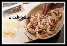 Gevulde champignons met spekjes - Slank4u2